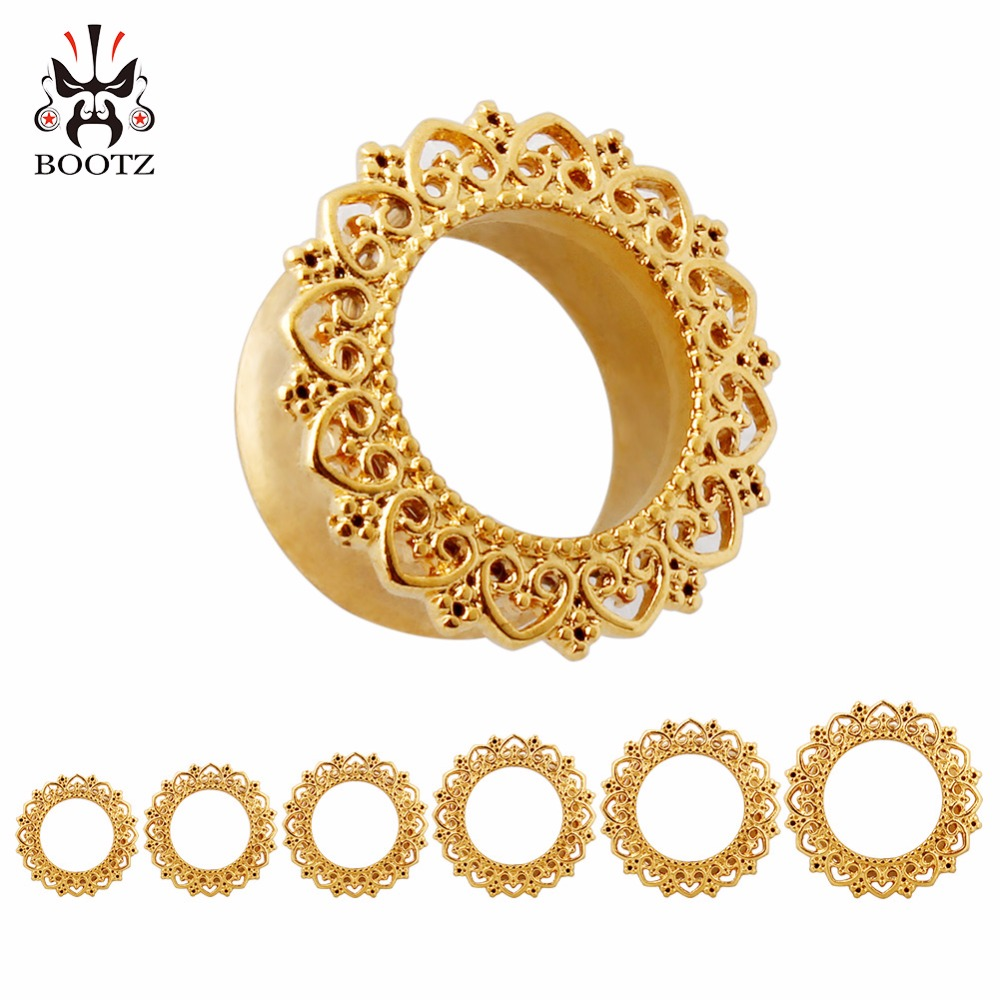 Hot selling golden ear piercings stainless steel ear for Body jewelry cheap prices