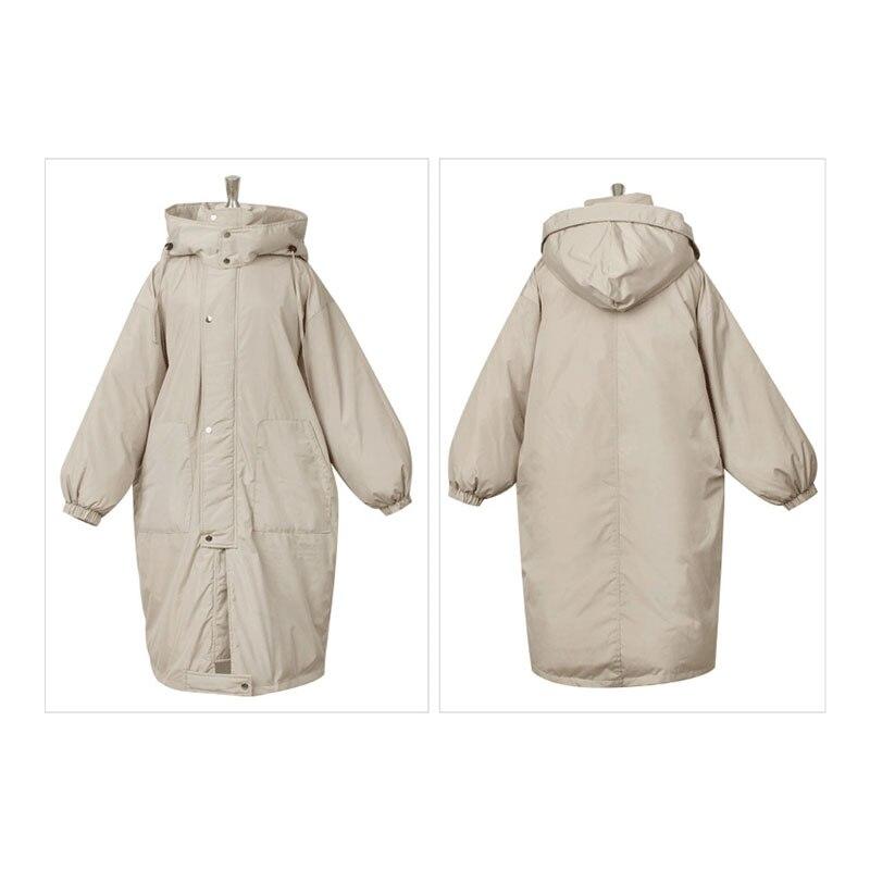 Женские зимние куртки размера плюс, повседневное пальто, женская парка с длинным капюшоном, утолщенная теплая Женская парка с хлопковой под... - 5