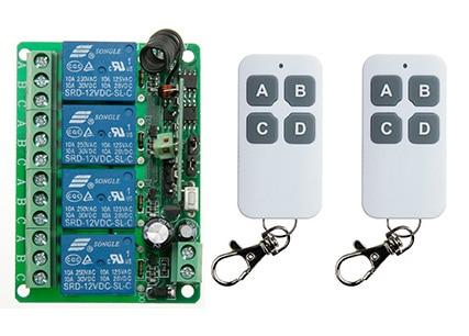 NEW DC12V 4CH  4Channe 10A RF wireless remote control switch System, 2X Transmitter + 1 X Receiver,315433 MHZ
