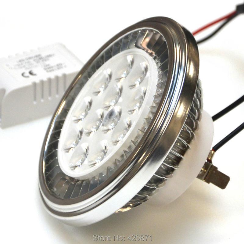 LED AR111 G53 Spotlight QR111 Controlador externo 15W CREE LED 90-240V 3000K / 6000K Equivalente a la lámpara halógena AR111 de 100W