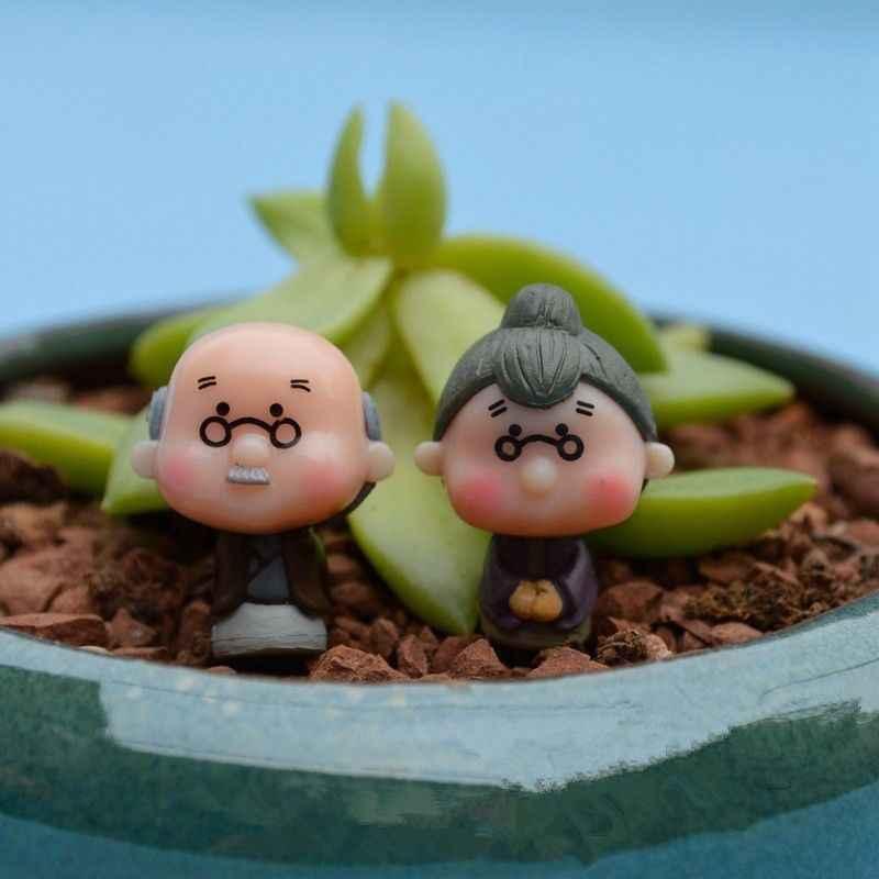 30OFF #2 adet minyatür eski büyükanne büyükbaba noel reçine peri ev bahçe zanaat dekor