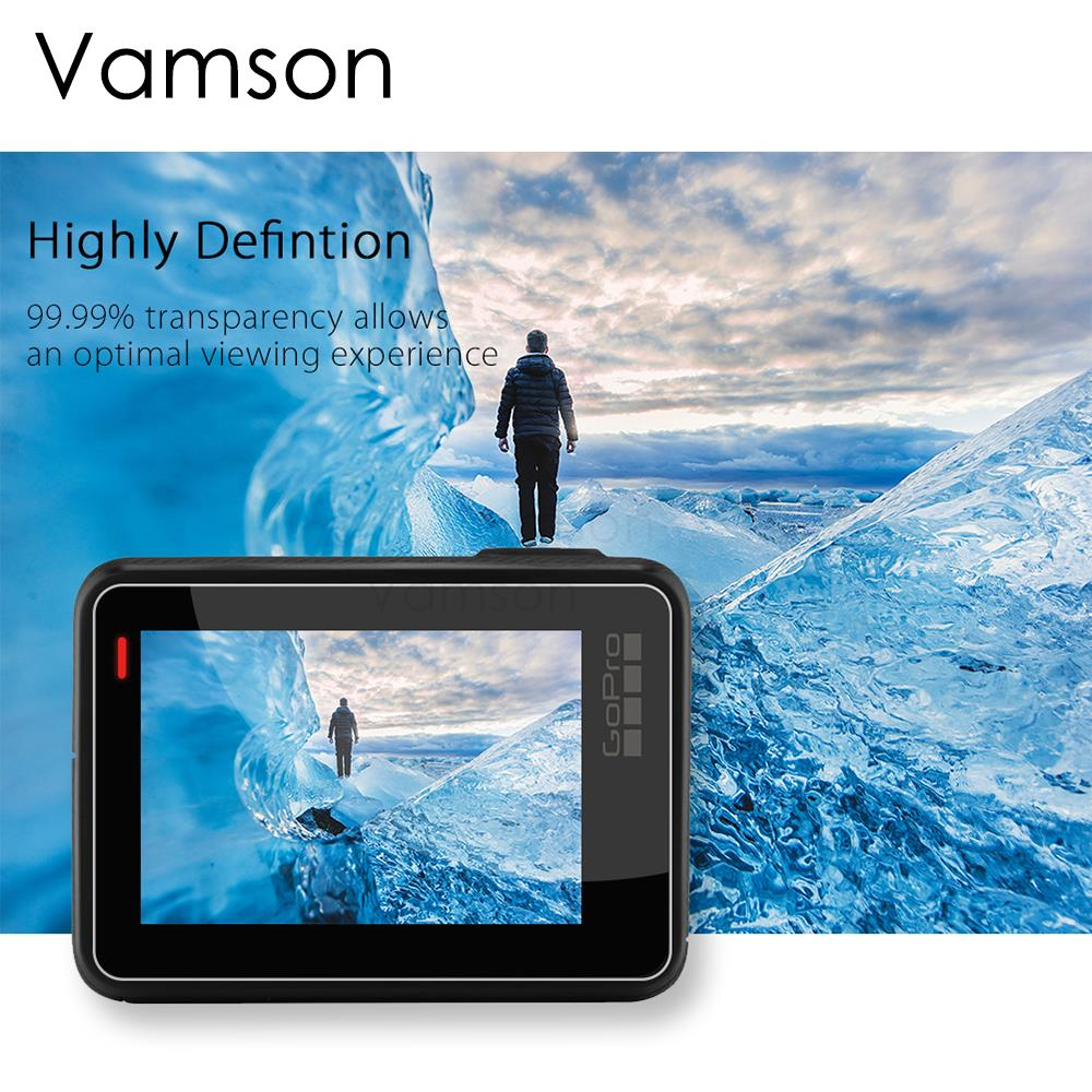Image 4 - Vamson For GoPro Hero6 LCD Display Screen Protector For Go pro Hero7 5 Black Camera Lens Accessories Protective Film Case VP710G-in Sports Camcorder Cases from Consumer Electronics