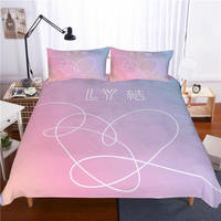 Musolei BTS 3D Bedding Set Queen Size Duvet Cover comforter cover set Bedclothes Microfiber Home room Textiles