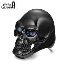 Effie queen ретро стиль стальное кольцо готический мужская байкер кольцо из нержавеющей стали punk череп прохладный человек перстни wtr92