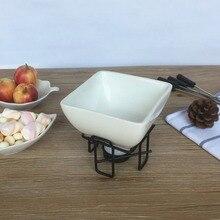 Square chocolate melting pot, ceramic fondue pot touch in sol rouge fondue lipstick 07 цвет 07 fondue nude beige variant hex name fea587