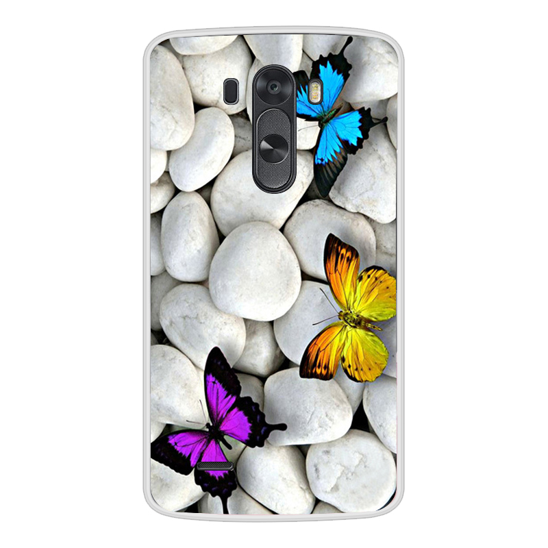 Image 3 - 電話ケース Lg G3 ソフトシリコーン TPU かわいい猫花塗装裏表紙 Lg G3 D850 D851 D855 ケース -    グループ上の 携帯電話 & 電気通信 からの フィットケース の中