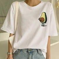 Dessin animé avocat Vegan à manches courtes mignon T-shirt femmes petit décontracté T-shirt Harajuku Ullzang T-shirt haut tendance T-shirt femme