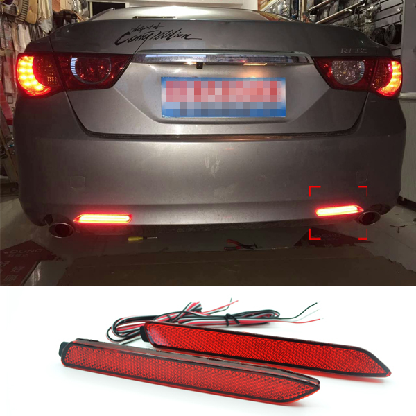 Car Rear Brake Lights For Toyota Camry 7th 2011 2012 2013 2014 Mark X Rear Bumper 12V LED Brake Lights Tail Warning Fog Lamps