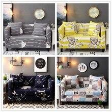 1/2/3/4 zits Effen Sofa Cover Spandex Moderne Elastische Polyester Bank Hoes Stoel Meubels Protector woonkamer 24 Kleuren
