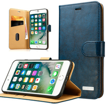 Labato Real Leather Case for iPhone 7 7Plus Genuine Leather Wallet Stand with Card Holder Magnetic Flip Cover for iPhone 7 Plus