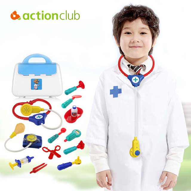 Plastic Doctor Toys Boys Girls Toys Pretend Play Medical Tool Box Kids Educationa Medical Kit Physician Cosplay Set for Children