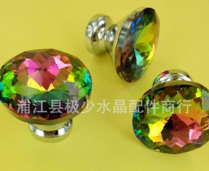30mm Haplopore Crystal Handle Chinese Redbud Stone Tin Alloys Door Drawer Cabinet Wardrobe Pull Handle Knobs Drop Wholesale