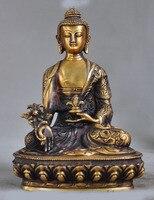 Рождество 8 Тибетский буддистский храм бронзовые травы буддийская медицина Шакьямуни Статуя Хэллоуин