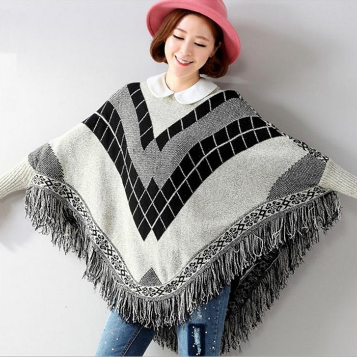 Knitting Pattern For Cape With Sleeves : Online Buy Wholesale knit cape pattern from China knit cape pattern Wholesale...