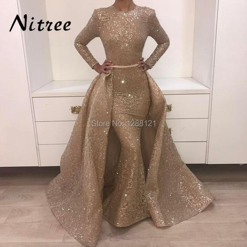 Muslim Mermaid Formal Evening Dresses Turkish Arabic Dubai Bling ...