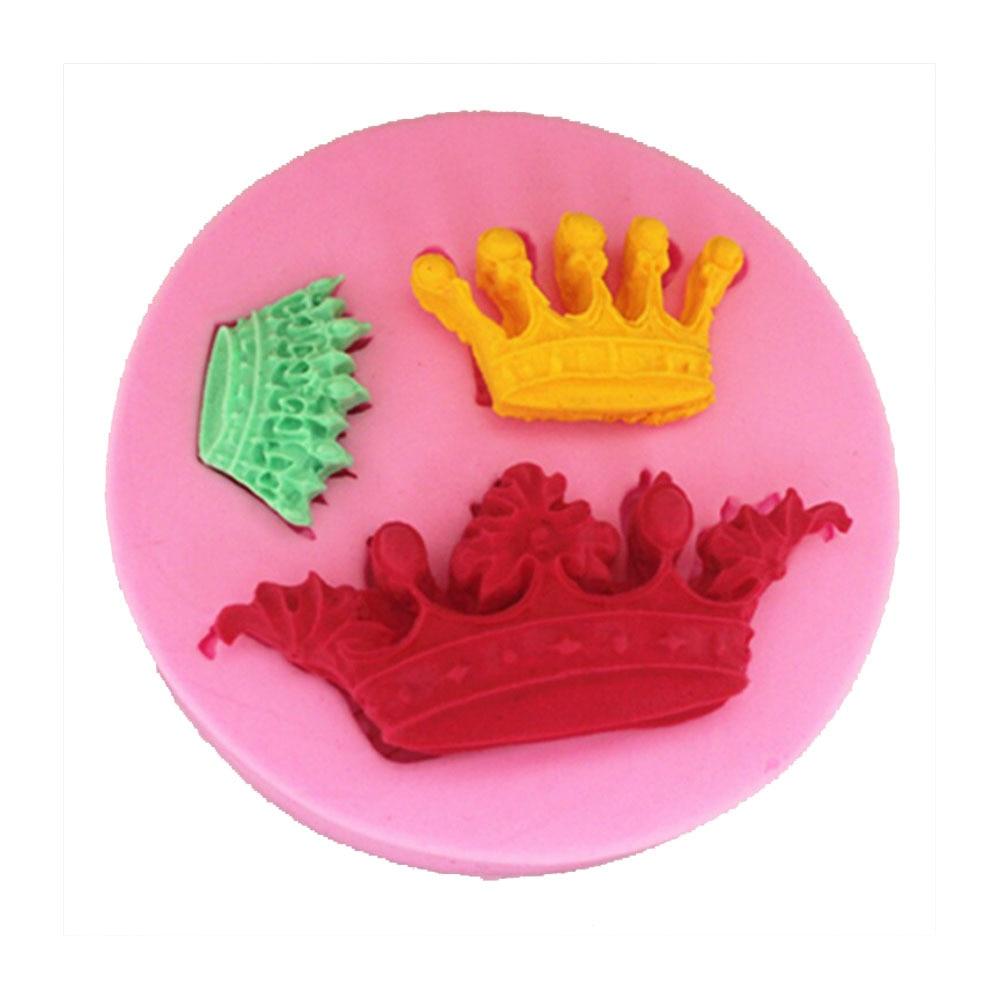 NºF1088 Crown Silicone Fondant Mold Gum Paste Cake Decorating cake ...
