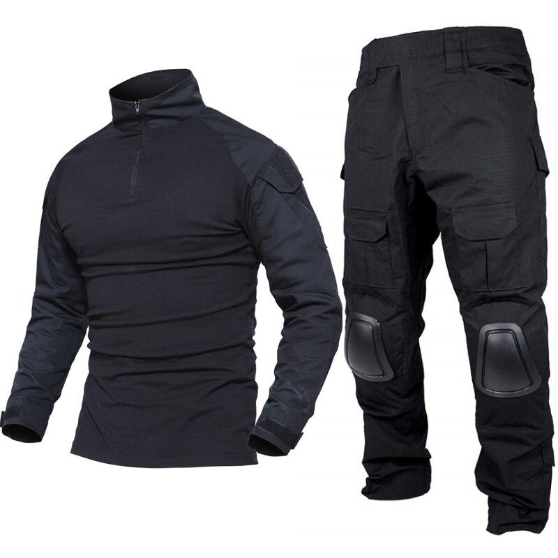 Gen2 militaire armée uniforme BDU Combat chemise pantalon tactique costume noir hommes Camo Airsoft Sniper Paintball chasse vêtements