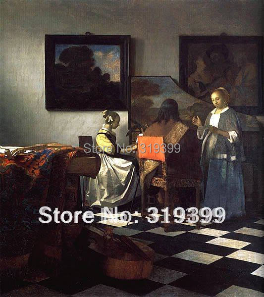 d936e33d3d786 Oil Painting Reproduction on linen canvas,The Art of Painting by Johannes  Vermeer,Free Shipping ,100% handmade,Museum quality-in Painting & ...
