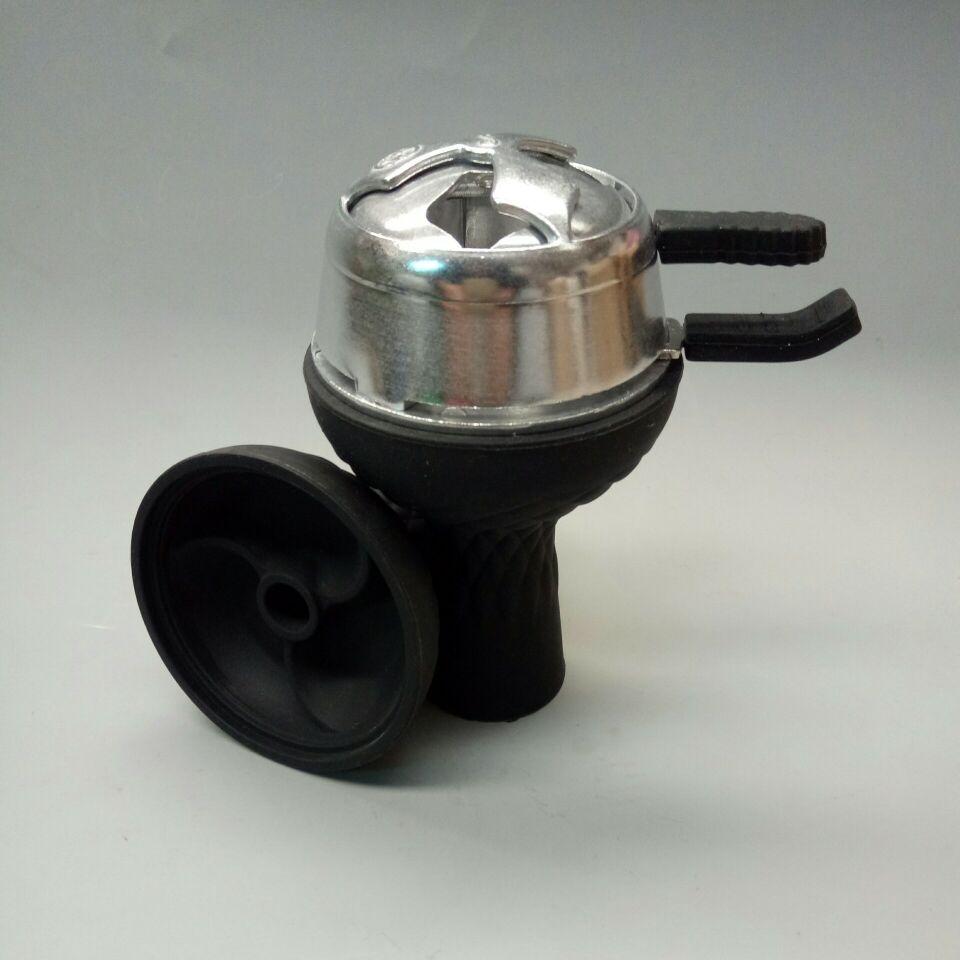 1pc 3-disc Silicone Shisha Hookah Bowl And 1pc kaloud Charcoal Holder As 1 lot For Glass Shisha Hookah