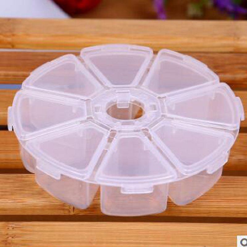 Dairesel plastik kutu 8 hücreleri organizador de maquiagem boite de - Evdeki Organizasyon ve Depolama - Fotoğraf 2