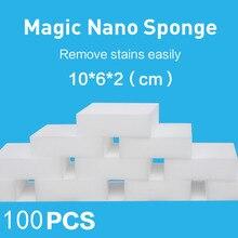 100*60*20 мм 100 шт Magic губка Ластик кухня, ванная, офис принадлежность для чистки/блюдо Очищающая меламиновая губка нано оптовая продажа