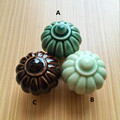 Rustico retro creative lantern ceramic drawer cabinet knobs pulls coffee cyan reseda porcelain bronze dresser door handles knobs