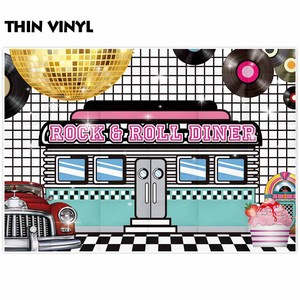 Image 3 - Funnytree photographic background rock roll diner dance disc spotlight food photography backdrops photo photocall photobooth