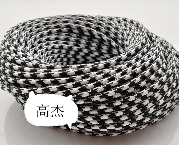 Kronleuchter Textilkabel ~ 2*0 75 5 mt los edison textilkabel stoff draht kronleuchter