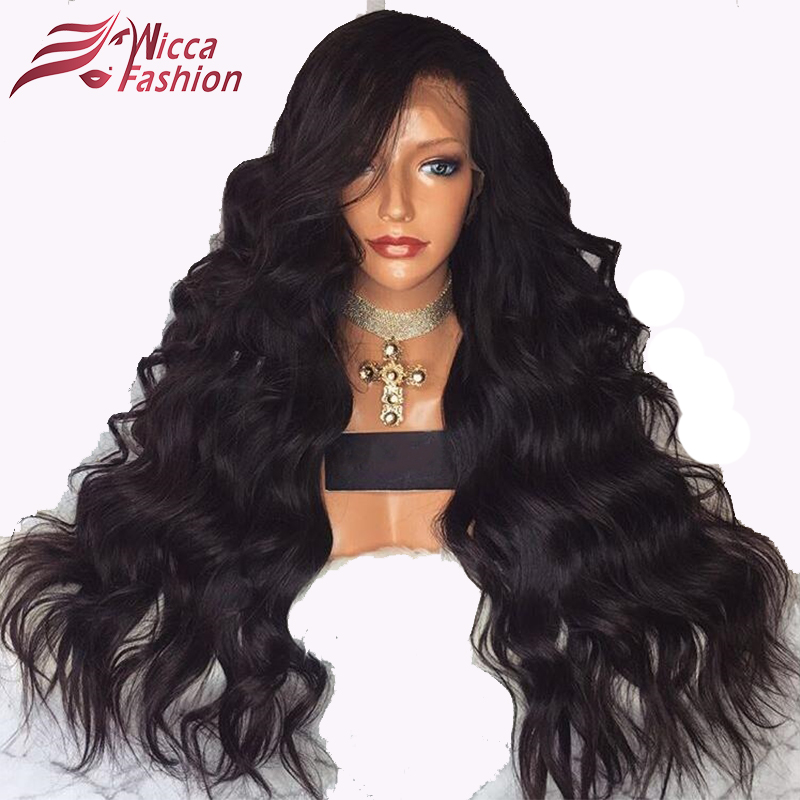 wicca fashion Full Lace Wigs For Black Women Pre Plucked Body Wave 150% Density Brazilian Non-Remy Hair 100% Human Hair