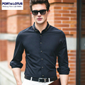 PORT&LOTUS Bussiness Casual Shirts Brand Clothing Camisa Masculina Fashion Botton Shirt Men Long Sleeves Mens Shirt YT016 17336