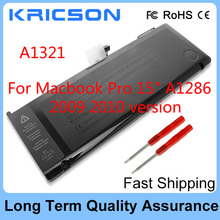New A1321 Laptop Battery For Apple Macbook Pro 15 inch A1286 (only for 2009 2010 version),fit MB985 MB986J/A MC118 MB986