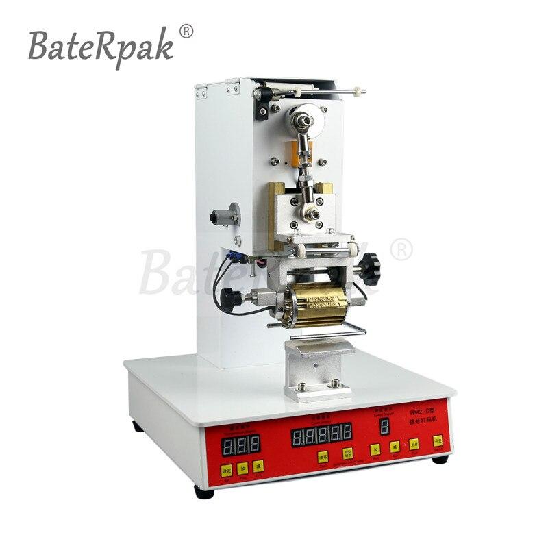 Imprimante électrique de code de composition de BateRpak de ZY-RM2-D, machine de codage de cadran, Machine d'estampillage automatique, machine de pliage de LOGO en cuir