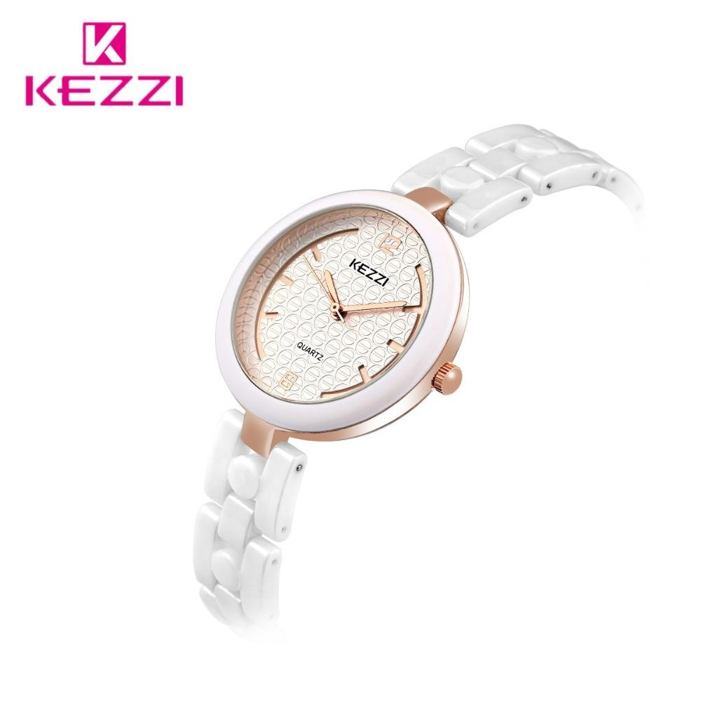 2017 new fashion casual KEZZI brand high quality ceramic wrist watchs luxury gold women clock female ladies quartz watch k1445 2016 new luxury brand kezzi waterproof