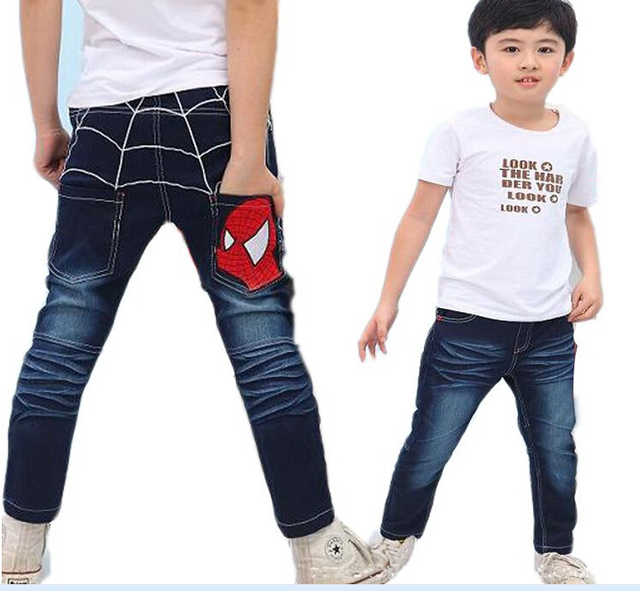 81c8de26222b8 New Style children clothing Cartoon Spider man design boys jeans autumn  kids denim trousers for 3 7ages-in Jeans from Mother & Kids