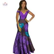 2018 african dresses for women Fashion Design dashiki women bazin riche  V-neck long dress dashiki plus size regular 6xl WY1231 8634c7846017