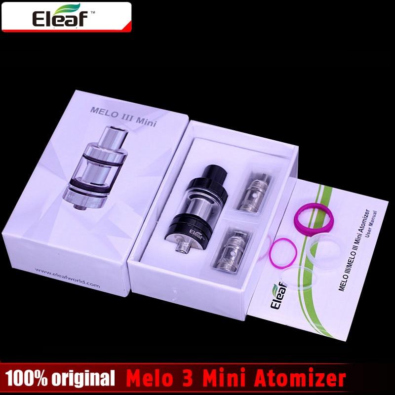100% Original eleaf Melo 3 Mini Atomizer 2ml Capacity 22mm Diameter Melo III mini Tank compatible for Istick Pico eleaf coral rda atomizer for diy