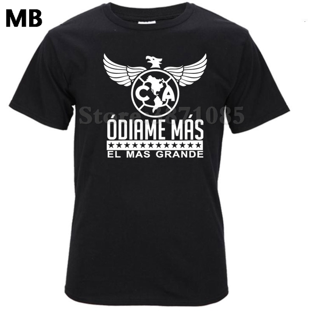 2493a38d6e9 Men Tees Tops Club America Mexico Aguilas Camiseta Jersey T Shirt Odiame  Mas El Mas Grande