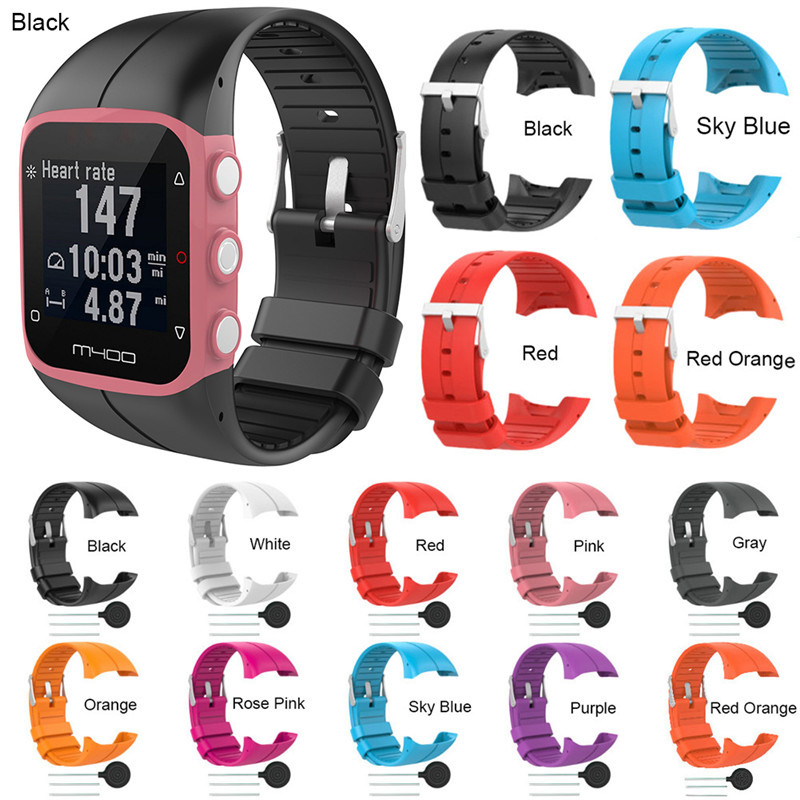 Silicone Colorful Replace Watch Strap For Polar M400 M430 GPS Running Smart Watch Replace Wrist Band For Polar M400 Replacement