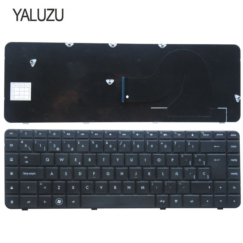 YALUZU Spanish Laptop Keyboard FOR HP Compaq Presario CQ56 CQ62 G62 CQ56-100 AX6 V112346AK1 Black SP Layout Notebook Keyboa