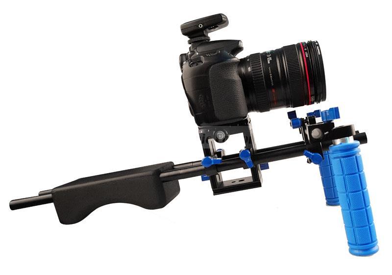 bilder für DSLR Rig 6D D600 D810 Kamerahalterung Kopf Handheld Video Schulter Unterstützung System 15mm Rod Clamp Halterung Ständer