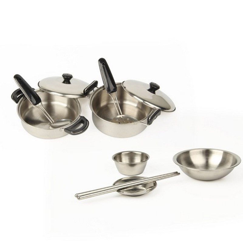 Kids Pretend Play Kitchen Toys 18pcs Set Kitchenware Miniature Cooking Set For Children Kitchen Accessories