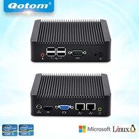 QOTOM Mini PC Core I5 Processor Up To 2 6 GHz Dual LAN Mini PC With