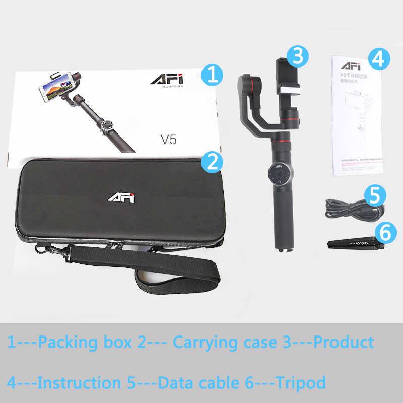 De Metal de 3 ejes de teléfono del cardán estabilizador para Smartphone teléfono móvil iphone GoPro 5 iphone 7 6X8 7 plus Samsung S8