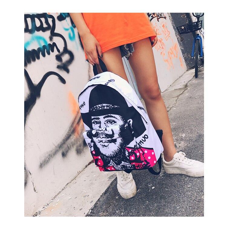 Menghuo Newest Women Backpacks 3D Printing Backpack Female Trendy ... 259dbca2cd984
