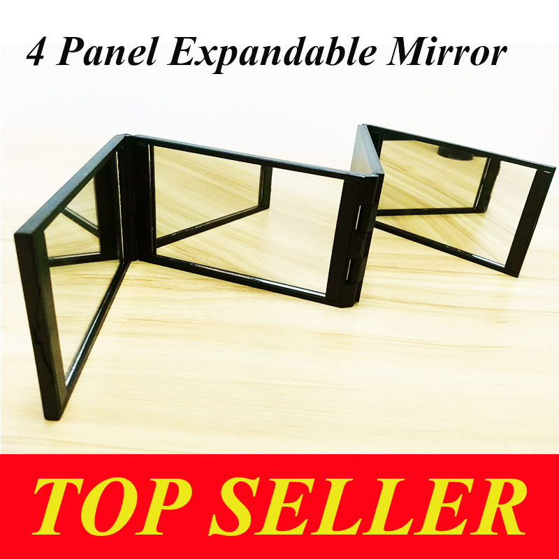 Guwee 4 Panel Expandable Mirror Hot sell Multuple applications Black Good  material Thicken Environmental protection(