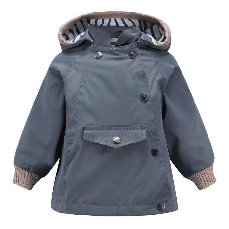 Горячая Распродажа 2019, ветрозащитные водонепроницаемые куртки для маленьких мальчиков, Детские двухслойные куртки, верхняя одежда-in Куртки и пальто from Мать и ребенок