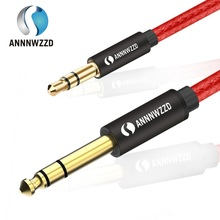 цена на 3.5mm to 6.35mm Adapter Aux Cable for Mixer Amplifier CD Player Speaker Gold Plated 3.5 Jack to 6.5 Jack Male Audio Cable