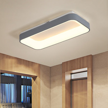 Rectangle Remote Controller Modern Led Ceiling Lights For Living Room Bedroom Grey Color Dimmable Lamp