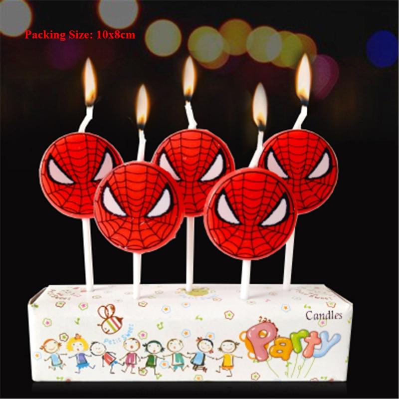 First Birthday Spiderman Cake Candle Children Kids Party Cake Decorating Supplies Spider Man Candle Birthday Candles For Cakes Cake Decorating Supplies Aliexpress