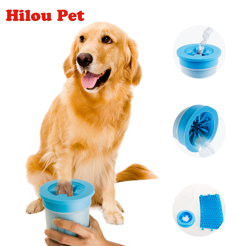 2018 actualizado nuevo Pet Paw arandela taza perro herramientas de lavado de pies suaves cerdas de silicona suave cepillo para mascotas limpieza rápida Paws pies fangosos
